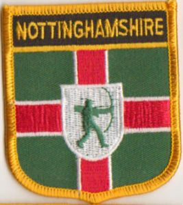 Nottinghamshire Embroidered Flag Patch, style 07